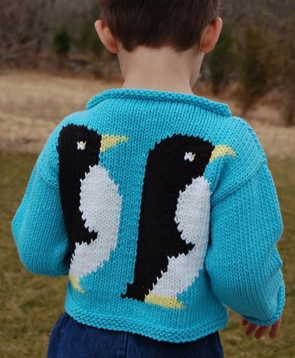 You have to see Penguin Sweater to Knit on Craftsy!