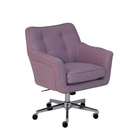 Serta Style Ashland Home Office Chair, Lilac Twill Fabric, Purple