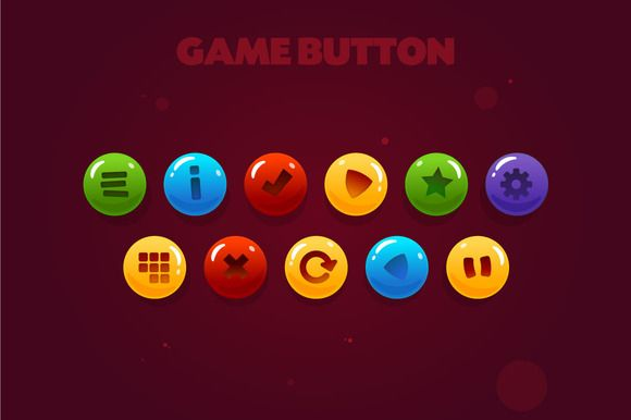 game button by shammballa on @creativemarket