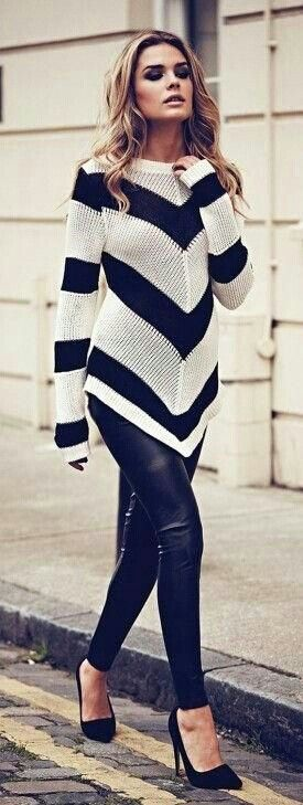 9d751caaa65e9 Gorgeous sweater  positioning of the striped makes you look slimmer!