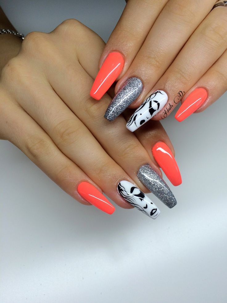 Nails design#a great idea of my client#love her