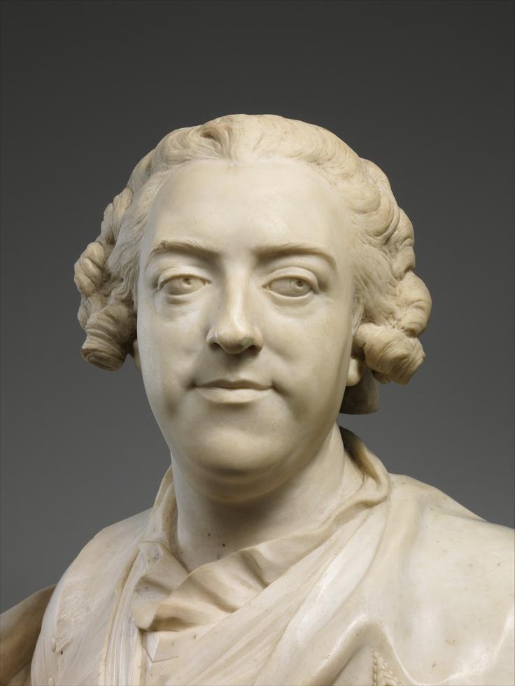 Louis XV bust by Lemoyne (fragment)