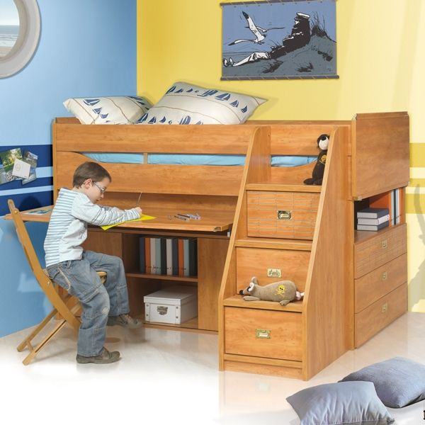 beautiful midsleeper beds u a solution for childrenus bedrooms as parents we with lit gautier. Black Bedroom Furniture Sets. Home Design Ideas