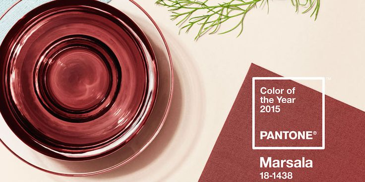 Pantone's Colour of the Year for 2015 is MARSALA!