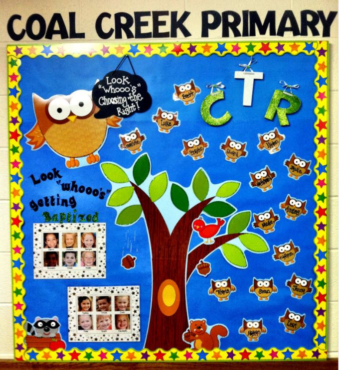 CTR bulletin boards | LDS ideas | Classroom decor primary ...