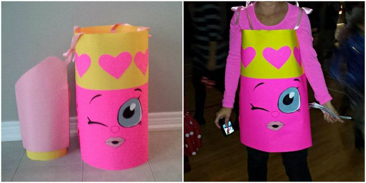 Shopkin Costume Lippy Lips Shopkin Costume for Halloween