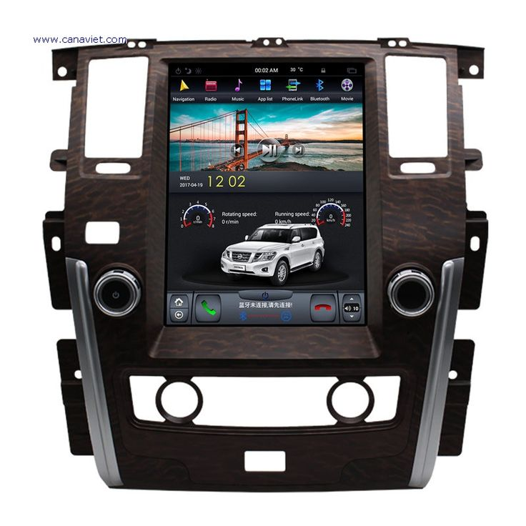 vertical screen tesla android autoradio car multimedia stereo gps navigation dvd radio audio sat nav head unit nissan patrol 2009 2010 2011 2012 2013 2014 2015 2016 2017