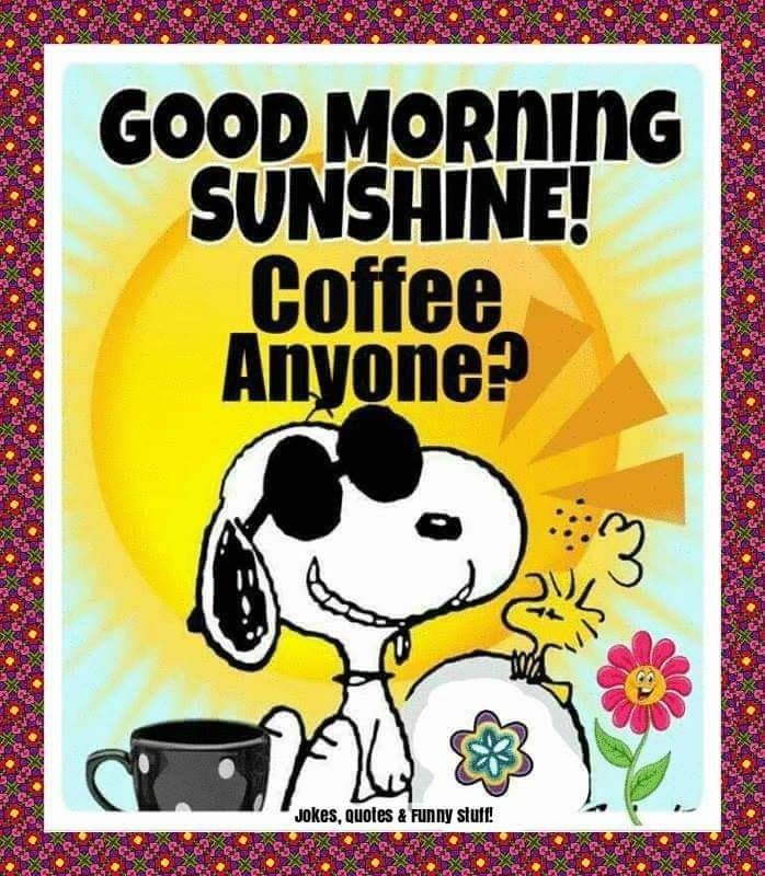 Good Morning The Sun Is Out The Air Is Warm It Is A Perfect Saturday And I Am Off You Get Good Morning Snoopy Good Morning Sunshine Funny Good Morning Memes