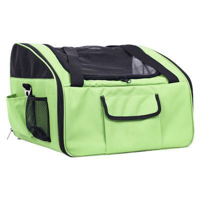 Pet Life 'Ultra-Lock' Collapsible Travel Pet Carrier Color: Olive Green http://www.barklands.com/product-category/car-accessories/vehicle-ramps/