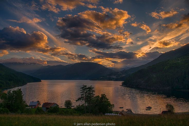 Midnight over Sogndal / 500px
