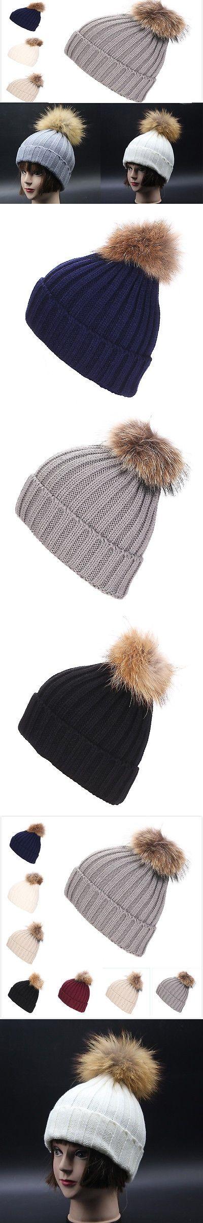 Autumn Winter Unisexe Men Women knitted bobble hat Large Cap Winter Warm Ski Hat
