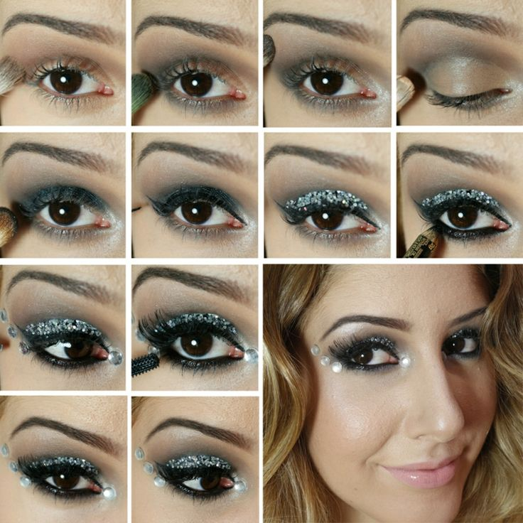 best 25 smokey eyes anleitung ideas on pinterest hochzeits make up blau blaues lidschatten. Black Bedroom Furniture Sets. Home Design Ideas