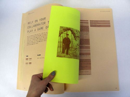 fluo / neon page with brown paper