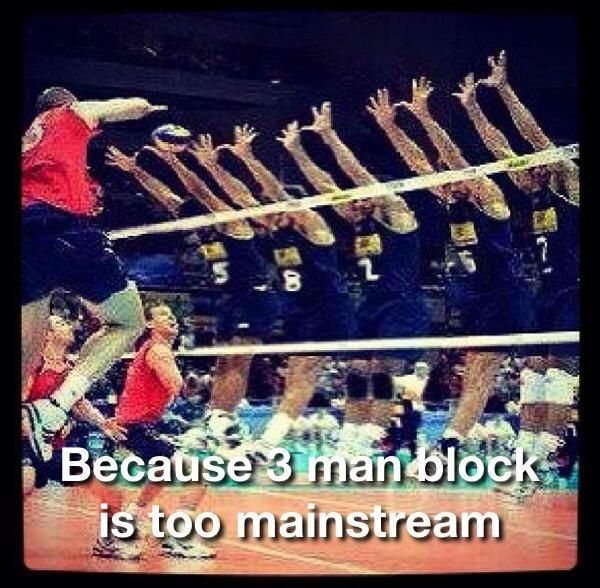 Quotes On Sports Prize Distribution: 3 Man Block Is Too Mainstream #volleyballfun