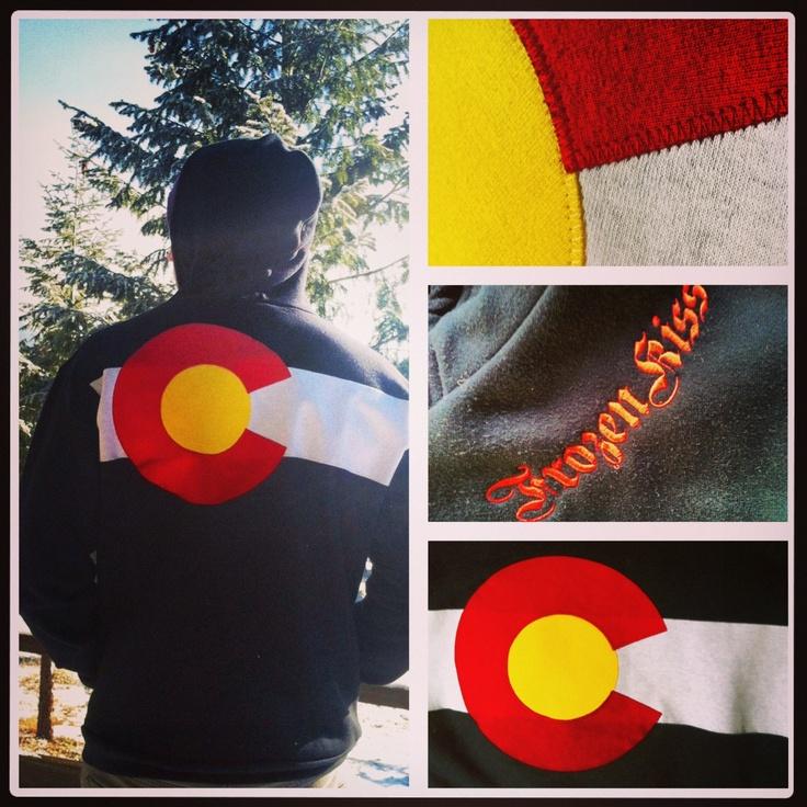 Colorado Flag Hoodie BLACK  zippered sweatshirt. $76.00, via Etsy.