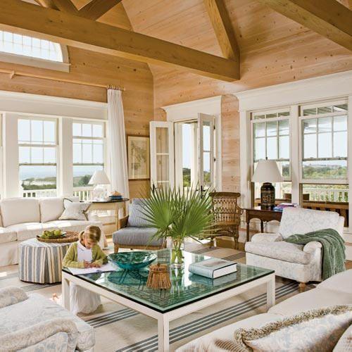 Coastal Living beach house living room