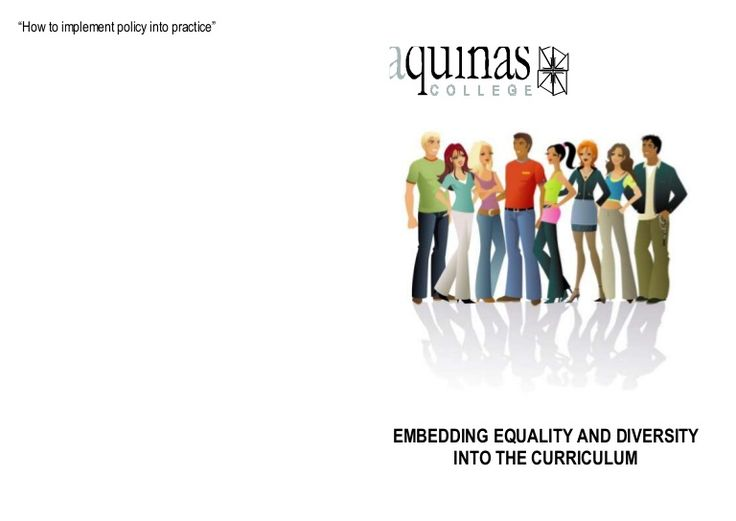 Embedding equality and diversity into the curriuculum by Ruth Hewitt via slideshare