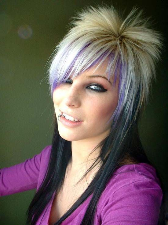 Funky Hairstyles for Medium Length Hair http://www.hairstylesforgirl.com/funky-hairstyles-medium-length-hair/
