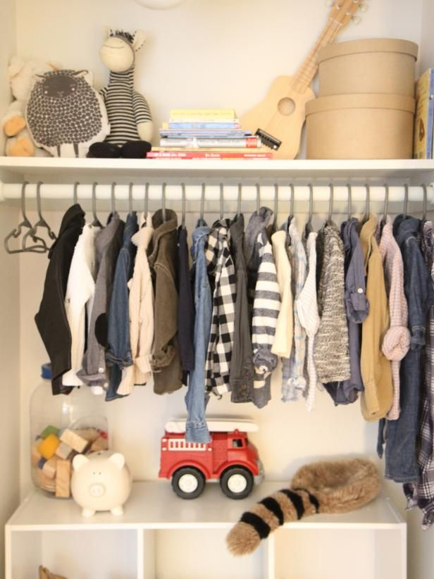 DIY Network Teaches You How To Hang Any Basic Closet Rod With This Easy,  Step