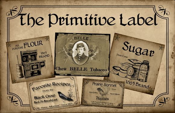The Primitive Label Home Page. Lots of Prim printables, some are free.