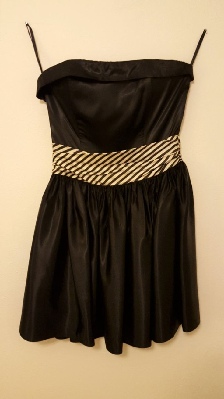 Us prompartynew yearus eve dress black strapless bodice with