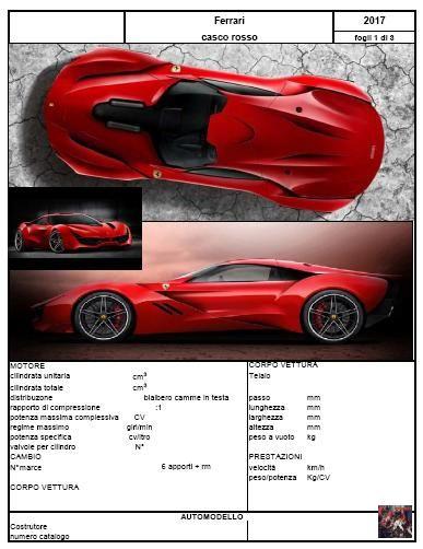 2017 Ferrari  Casco rosso