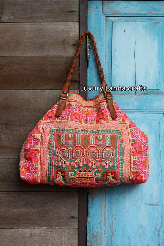 Luxury Hmong ethnic boho bag handmade vintage by LuxuryLannaCrafts