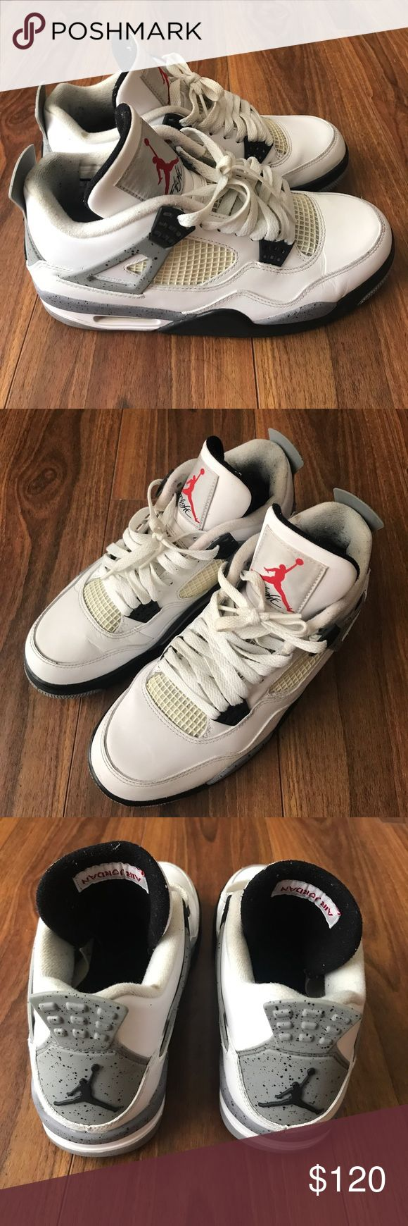 Air Jordan Retro 4 Basketball Sneakers Shoes sz. 8 Used condition with plenty of wear left! Comes with the Jordan tag but no original box! I'm not the original owner, but the previous owner smoked so shoes may smell. Will do my best to clean and take out smell! Serious offers only! Message me at mikemfdoom at yahoo to strike a deal. Air Jordan Shoes Sneakers