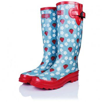 ARCTIC Flat Festival Wellies Rain Boots - Strawberrys Regenlaarzen met aardbeien motief