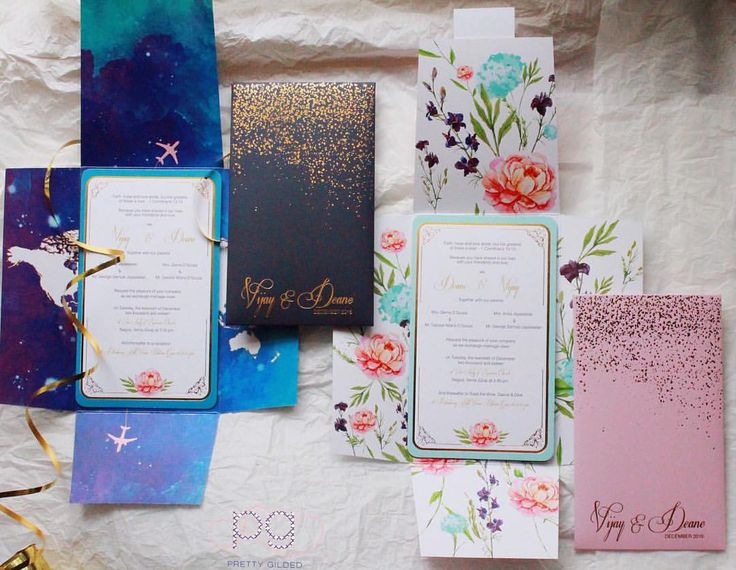 Wow printing! Photo byPretty Gilded Designs, Chennai #weddingnet #wedding #india #indian #indianwedding #invitations #flower #royal #details #romance #couple