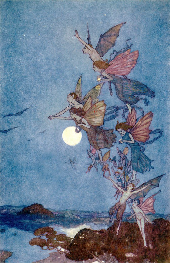 Elves. Edmund Dulac, The Tempest