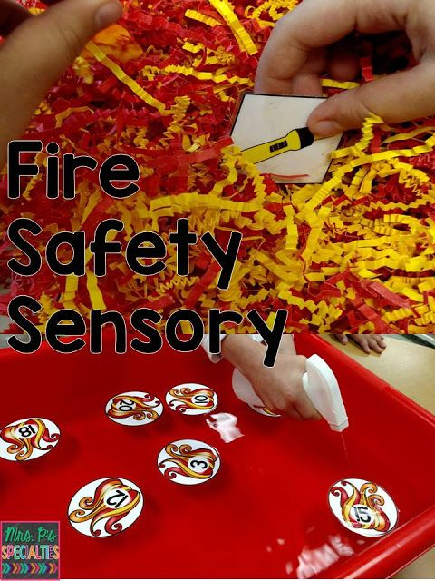 Mrs. P's Specialties!: Fire Safety Sensory Tasks