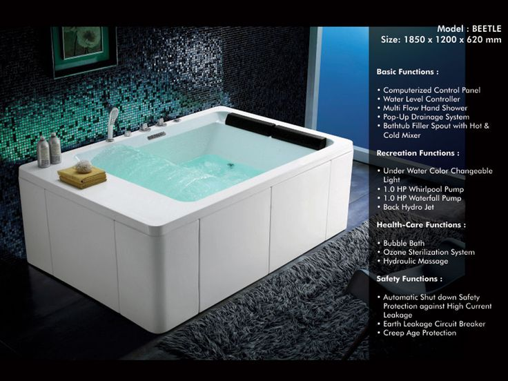 9 best Whirlpool Bathtubs images on Pinterest | Hot tub bar, Jacuzzi ...