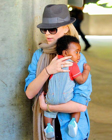 Charlize Theron and Jackson Theron:  Beautiful Stylish Family
