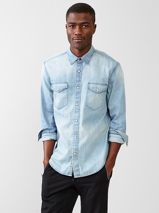 chemise en jean denim - Gap homme