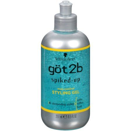 Schwarzkopf Got2b Spiked-Up 4 Demanding Styles Max-Control Styling Gel, Multicolor
