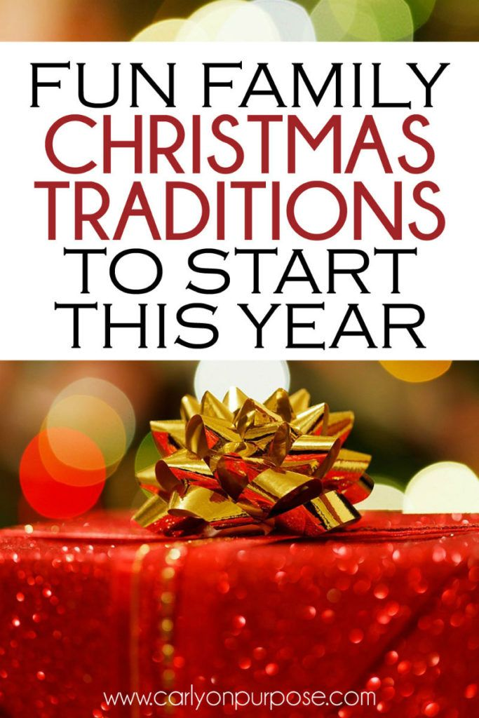Christmas Traditions are such an AWESOME part of the holidays. These Christmas Tradition Ideas are SO FUN!!