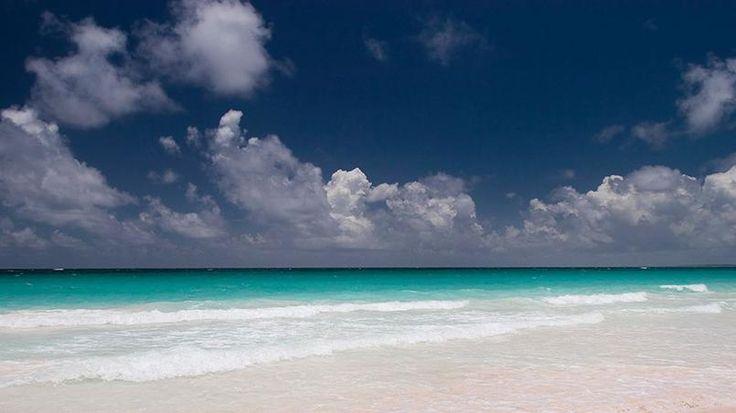 Sable rose - Sur les îles d'Eleuthera ou de Harbour, certaines plages ont la particularité d'être de sables rose. Vraiment rose. Bahamas