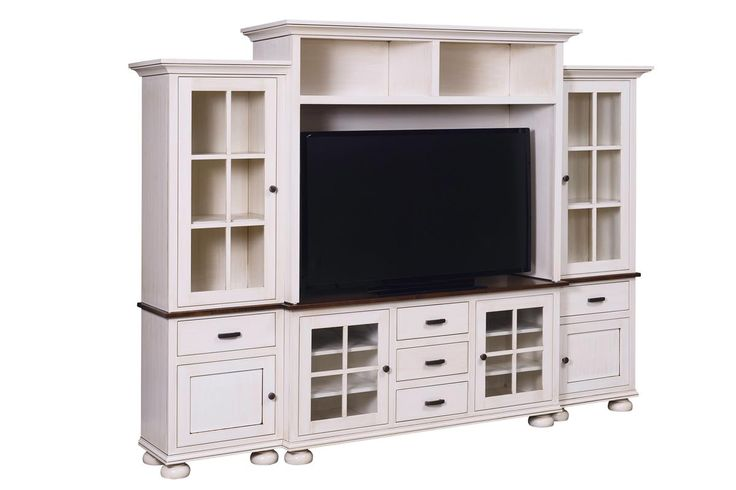 Amish Kaitlyn Wall Unit Storage galore will keep your living room organized with the stylish Kaitlyn Wall Unit illuminating the room.