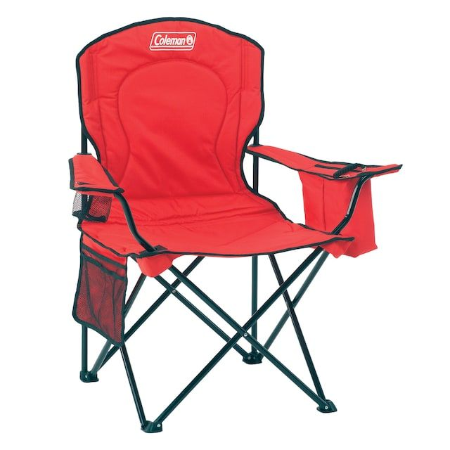 Coleman Oversize Quad Chair With Cooler Camping Chairs Folding