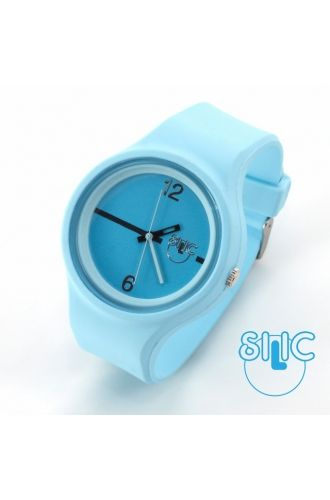 Silic Watch Color Round - modrá