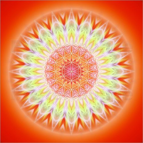Christine Bässler - Mandala Gesundheit mit Blume des Lebens