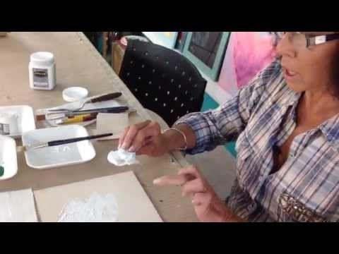 Como aplicar  bases acrilicas  y gesso -Pinturas Eterna-  Tutorial de Li...