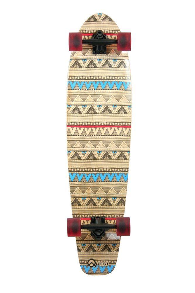 NEW Quest Native Spirit Kick Tail Longboard Skateboard, 40-Inch #Quest