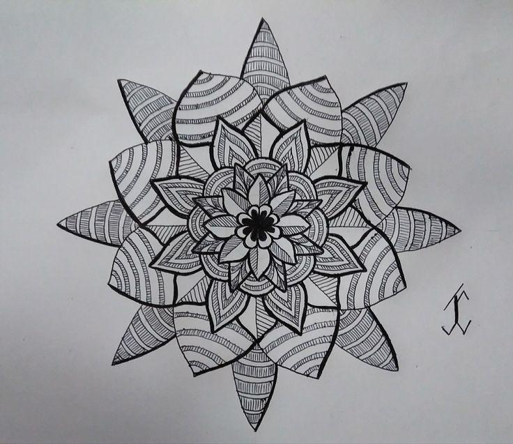 ShapeFlower03 #followewrs #instagram  #zentangle #3d #drawing #draw #pen #art  #ink #inkwork #zentangles #zentangleart #shape #shapes #mandala #mandalas