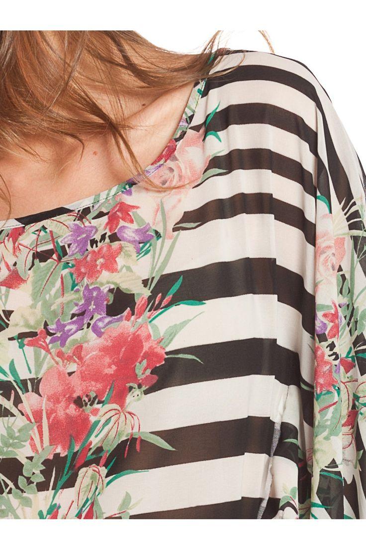 Blusón estampado. - MUJER   Rosalita McGee #flores #blusaflores #estampadofloral #flowers #modaprimavera #springstyle