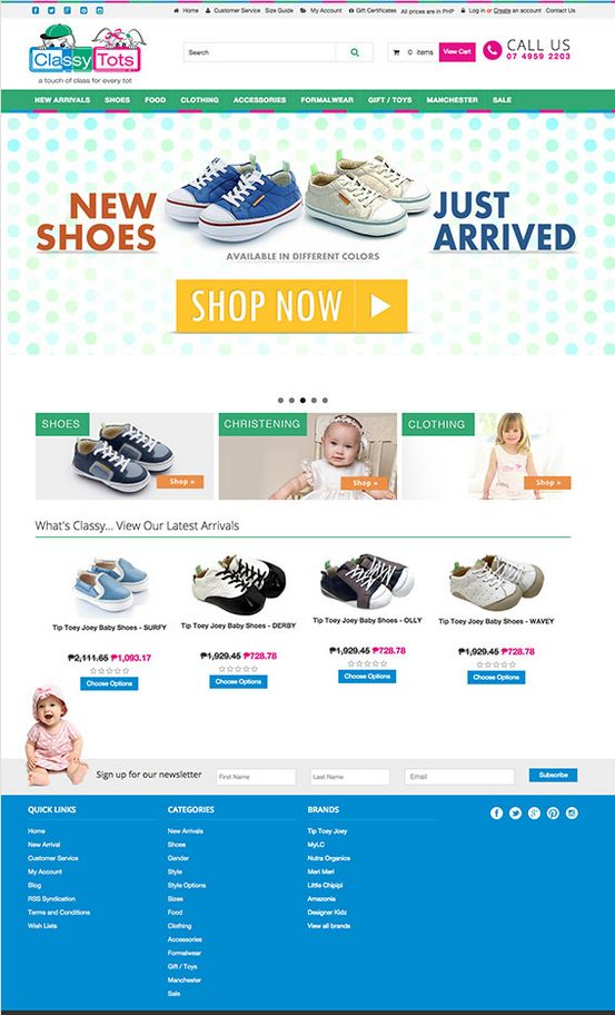 A more responsive Classy Tots website! Way much better than the previous design.