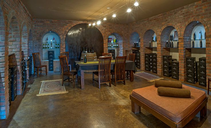 The beautiful old charming wine cellar