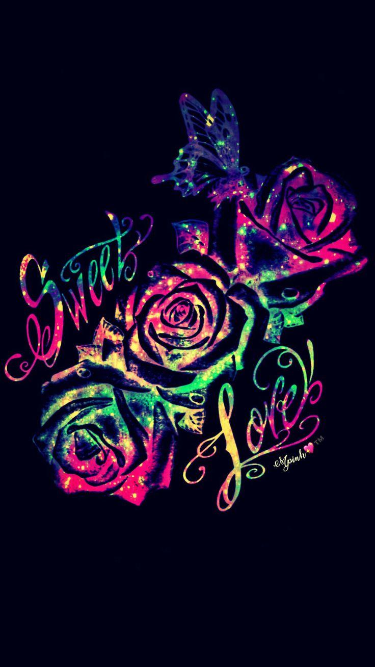 Sugar Skull Iphone Wallpaper Sweet Love Galaxy Wallpaper Androidwallpaper