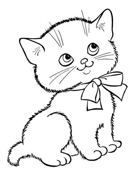 k is for kitten coloring pages - photo #45